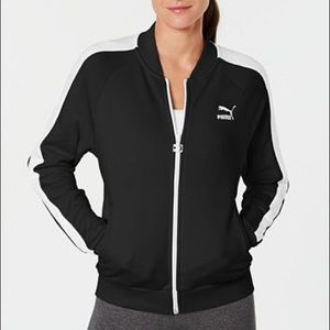 Puma Black and White Track Jacket Womens